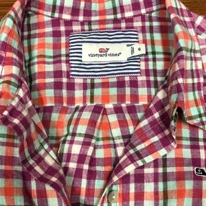 Vineyard Vines plaid shirt sz 6